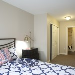 guest bedroom at Broadleaf Boulevard Apartments in Manchester CT