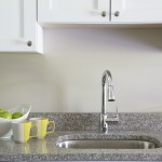kitchen sink at Broadleaf Boulevard Apartments in Manchester
