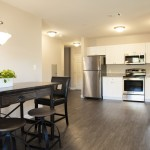 corner kitchen at Broadleaf Boulevard Apartments in Manchester