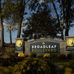 welcome sign at Broadleaf Boulevard Apartments in Manchester