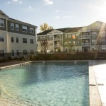 pool at Broadleaf Boulevard Apartments in Manchester